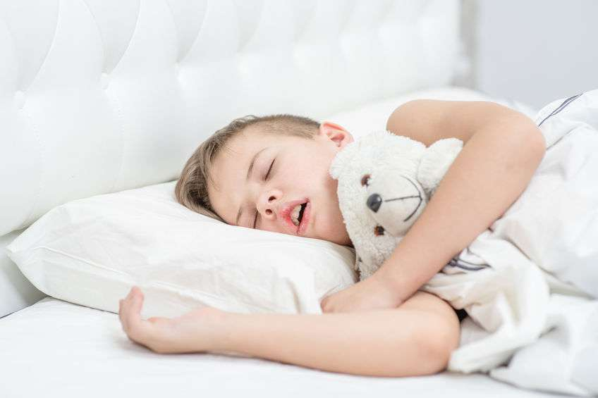 Boy Snoring and Sleeping with mouth open